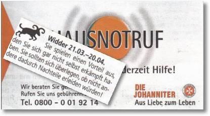 Widder - Hausnotruf der Johanniter