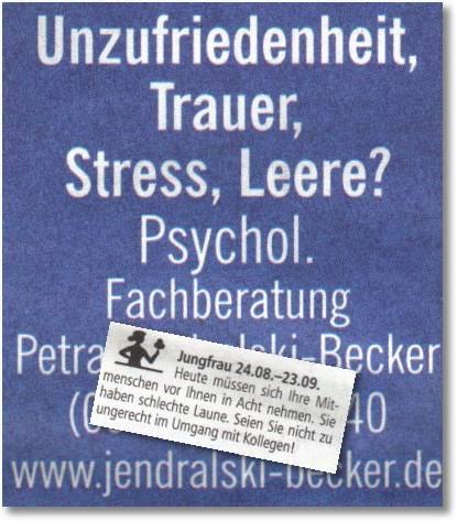 Jungfrau - Psychologische Fachberatung
