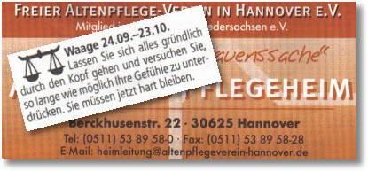 Waage - Pflegeheim