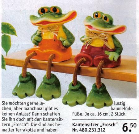 Kantensitzer Frosch