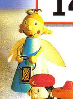 Engel mit Kopfring und Funzel
