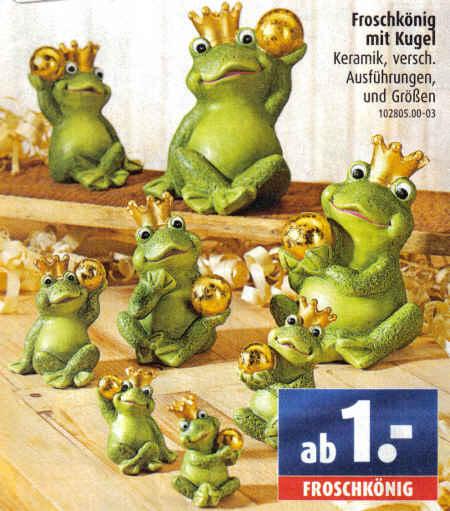 Froschkönig mit Kugel - Keramik, versch. Ausführungen, und Größen - ab 1 Euro