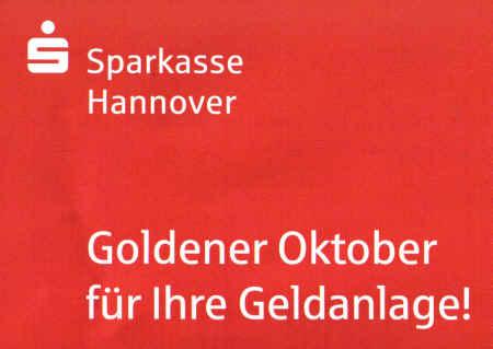 Sparkasse Hannover - Goldener Oktober für Ihre Geldanlage!