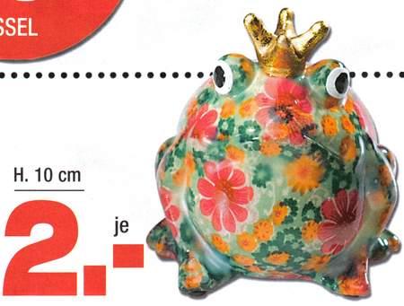 Froschkönig, Höhe 10 cm, je 2 Euro