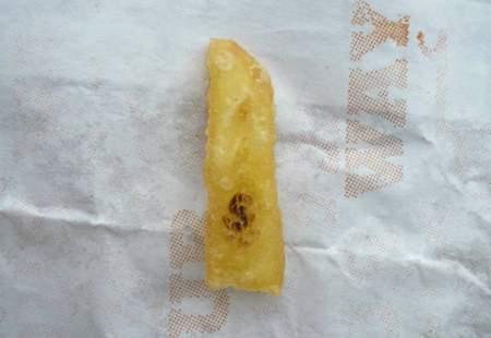 Eine Pommes mit Dollar-Zeichen vom Burger-King...