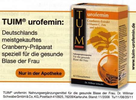 Deutschlands meistgekauftes Cranberry-Präparat speziell für die gesunde Blase der Frau,. Nur in der Apotheke