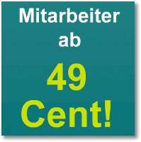 Mitarbeiter ab 49 Cent!