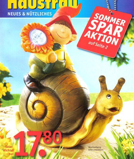 Titelbild des Kataloges Die moderne Hausfrau, Sommersparaktion, Solarwichtel nur 17,80 Euro