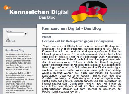 Screenshot vom Blog