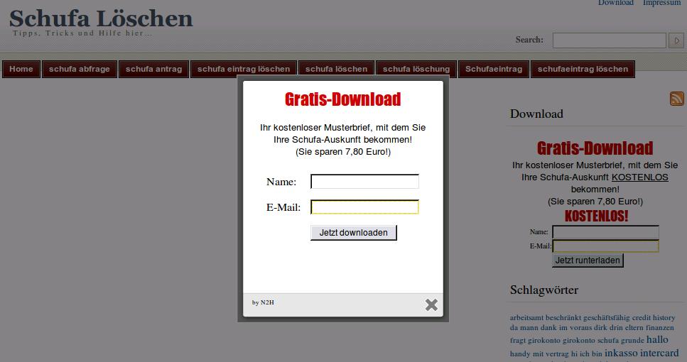 Gratis Download Schufa Löschen Wut