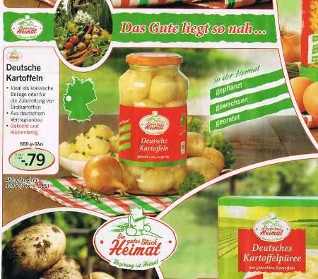 Das Gute liegt so nah... -- Deutsche Kartoffeln -- Ideal als klassische Beilage oder für die Zubereitung von Bratkartoffeln - Aus deutschem Vertragsanbau -- Gekocht und küchenfertig -- In der Heimat gepflanzt, gewachsen, geerntet