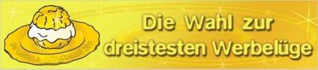 Der goldene Windbeutel 2011 -- Die Wahl zur dreistesten Werbelüge