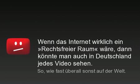 Wenn das Internet wirklich ein rechtsfreier Raum wäre, dann könnte man auch in Deutschland jedes Video sehen. So, wie fast überall sonst auf der Welt.