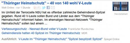 Thüringer Heimatschutz - 40 von 140 wohl V-Leute