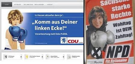 Gegenüberstellung Wahlkampfmotiv CDU und NPD
