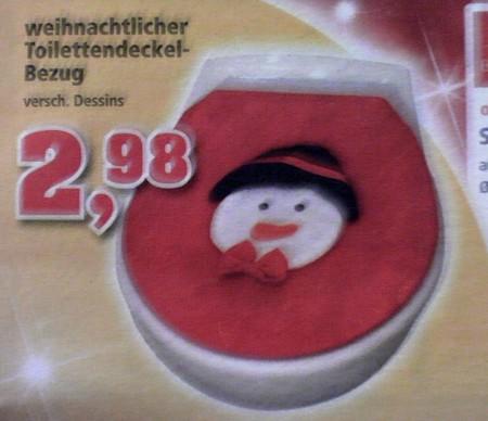 weihnachtlicher Toilettendeckel-Bezug, verschi. Dessins, 2,98