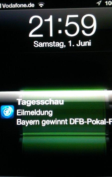 Tagesschau Eilmeldung Bayern gewinnt DFB-Pokal